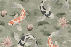 409437 cikkszámú tapéta.állatok,narancs-terrakotta,pink-rózsaszín,szürke,lemosható,vlies tapéta