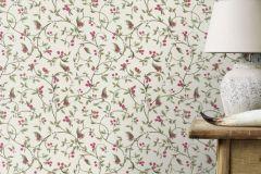400809 cikkszámú tapéta.Természeti mintás,textilmintás,pink-rózsaszín,fehér,súrolható,vlies tapéta