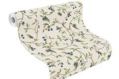 400816 cikkszámú tapéta.Természeti mintás,textilmintás,fehér,kék,lila,zöld,súrolható,vlies tapéta