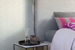 400908 cikkszámú tapéta.Természeti mintás,textilmintás,virágmintás,fehér,pink-rózsaszín,zöld,súrolható,vlies tapéta