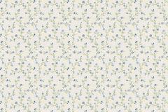 400915 cikkszámú tapéta.Természeti mintás,textilmintás,virágmintás,fehér,kék,zöld,súrolható,vlies tapéta