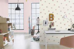 401011 cikkszámú tapéta.Természeti mintás,textilmintás,virágmintás,fehér,pink-rózsaszín,zöld,súrolható,vlies tapéta