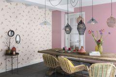 401110 cikkszámú tapéta.állatok,textilmintás,barna,lila,pink-rózsaszín,súrolható,vlies tapéta