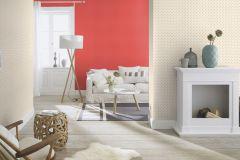 401219 cikkszámú tapéta.Pöttyös,textilmintás,fehér,piros-bordó,súrolható,vlies tapéta