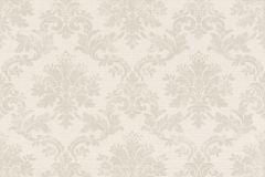 401424 cikkszámú tapéta.Barokk-klasszikus,textilmintás,szürke,súrolható,vlies tapéta