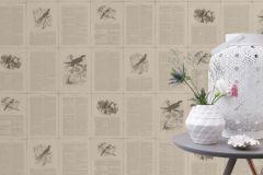 401615 cikkszámú tapéta.állatok,feliratos-számos,textilmintás,szürke,súrolható,vlies tapéta
