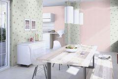 401035 cikkszámú tapéta.Természeti mintás,textilmintás,virágmintás,kék,pink-rózsaszín,zöld,súrolható,vlies tapéta