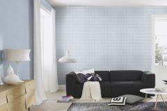 445251 cikkszámú tapéta.Egyszínű,textilmintás,kék,súrolható,illesztés mentes,vlies tapéta