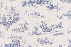 451801 cikkszámú tapéta.Emberek-sztárok,rajzolt,textilmintás,fehér,kék,súrolható,vlies tapéta