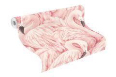 803204 cikkszámú tapéta.állatok,gyerek,különleges motívumos,rajzolt,természeti mintás,fehér,fekete,pink-rózsaszín,szürke,lemosható,vlies tapéta