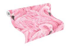 803211 cikkszámú tapéta.állatok,különleges motívumos,rajzolt,szürke,fehér,pink-rózsaszín,lemosható,vlies tapéta