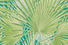 803310 cikkszámú tapéta.Absztrakt,rajzolt,természeti mintás,kék,türkiz,vajszín,zöld,lemosható,vlies tapéta