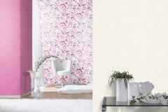 803518 cikkszámú tapéta.Absztrakt,különleges motívumos,rajzolt,retro,természeti mintás,virágmintás,fehér,kék,lila,pink-rózsaszín,vajszín,lemosható,vlies tapéta