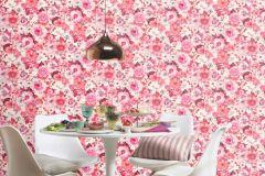 803556 cikkszámú tapéta.Absztrakt,különleges motívumos,rajzolt,retro,természeti mintás,fehér,lila,pink-rózsaszín,piros-bordó,lemosható,vlies tapéta