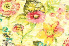 803716 cikkszámú tapéta.Absztrakt,különleges motívumos,rajzolt,retro,természeti mintás,virágmintás,kék,narancs-terrakotta,pink-rózsaszín,piros-bordó,sárga,szürke,zöld,lemosható,vlies tapéta