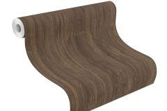 528404 cikkszámú tapéta.Fa hatású-fa mintás,különleges felületű,barna,lemosható,illesztés mentes,vlies tapéta