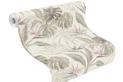 529005 cikkszámú tapéta.Különleges felületű,természeti mintás,fehér,pink-rózsaszín,szürke,lemosható,vlies tapéta