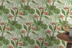 529029 cikkszámú tapéta.Különleges felületű,természeti mintás,fehér,kék,narancs-terrakotta,zöld,lemosható,vlies tapéta