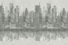 936315 cikkszámú tapéta.Különleges felületű,retro,tájkép,fehér,szürke,lemosható,vlies tapéta