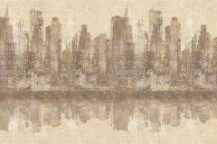 936339 cikkszámú tapéta.Különleges felületű,rajzolt,retro,tájkép,barna,bézs-drapp,lemosható,vlies tapéta