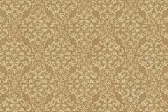 936513 cikkszámú tapéta.Barokk-klasszikus,különleges felületű,különleges motívumos,virágmintás,arany,barna,lemosható,vlies tapéta