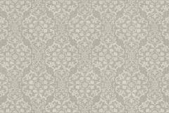 936520 cikkszámú tapéta.Barokk-klasszikus,különleges felületű,különleges motívumos,virágmintás,fehér,szürke,lemosható,vlies tapéta