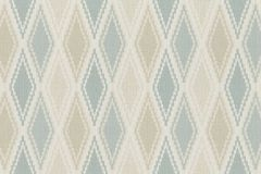 949629 cikkszámú tapéta.Geometriai mintás,különleges felületű,retro,bézs-drapp,kék,lemosható,vlies tapéta