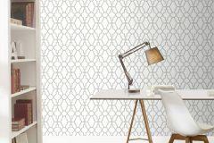 309300 cikkszámú tapéta.Absztrakt,különleges felületű,marokkói ,ezüst,szürke,lemosható,papír tapéta