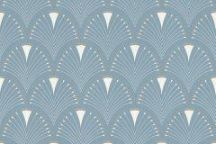 433234 cikkszámú tapéta.Absztrakt,különleges felületű,arany,fehér,kék,lemosható,vlies tapéta