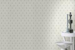 434064 cikkszámú tapéta.Absztrakt,különleges felületű,fehér,szürke,lemosható,vlies tapéta