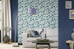489705 cikkszámú tapéta.Egyszínű,különleges felületű,kék,lemosható,illesztés mentes,vlies tapéta