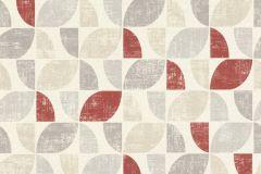 519822 cikkszámú tapéta.Absztrakt,különleges felületű,retro,bézs-drapp,piros-bordó,szürke,lemosható,vlies tapéta