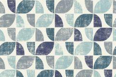519839 cikkszámú tapéta.Absztrakt,különleges felületű,retro,fehér,kék,szürke,zöld,lemosható,vlies tapéta