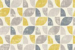 519846 cikkszámú tapéta.Absztrakt,különleges felületű,retro,bézs-drapp,fehér,kék,sárga,szürke,lemosható,vlies tapéta