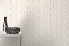 620931 cikkszámú tapéta.Absztrakt,különleges felületű,ezüst,fehér,szürke,lemosható,vlies tapéta