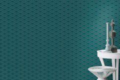 621020 cikkszámú tapéta.3d hatású,absztrakt,különleges felületű,ezüst,zöld,lemosható,vlies tapéta