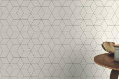 624304 cikkszámú tapéta.3d hatású,geometriai mintás,különleges felületű,fehér,fekete,lemosható,vlies tapéta