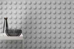 745467 cikkszámú tapéta.3d hatású,geometriai mintás,különleges felületű,szürke,lemosható,vlies tapéta
