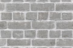 213607 cikkszámú tapéta.Kőhatású-kőmintás,fehér,szürke,gyengén mosható,papír tapéta