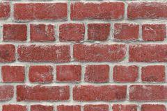 213614 cikkszámú tapéta.Kőhatású-kőmintás,piros-bordó,szürke,gyengén mosható,papír tapéta