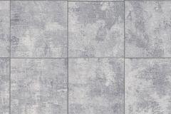 454413 cikkszámú tapéta.Kockás,kőhatású-kőmintás,fehér,szürke,lemosható,vlies tapéta