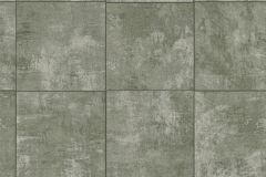 454437 cikkszámú tapéta.Kockás,kőhatású-kőmintás,zöld,lemosható,vlies tapéta