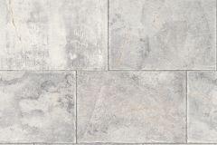 461503 cikkszámú tapéta.Kockás,kőhatású-kőmintás,fehér,szürke,lemosható,vlies tapéta