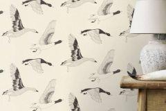 530704 cikkszámú tapéta.állatok,különleges felületű,rajzolt,fehér,fekete,lemosható,vlies tapéta
