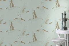 530742 cikkszámú tapéta.állatok,különleges felületű,rajzolt,arany,türkiz,lemosható,vlies tapéta