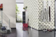 530902 cikkszámú tapéta.Különleges felületű,természeti mintás,virágmintás,ezüst,fehér,fekete,szürke,lemosható,vlies tapéta
