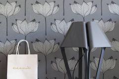530926 cikkszámú tapéta.Különleges felületű,természeti mintás,virágmintás,bronz,fekete,szürke,lemosható,vlies tapéta