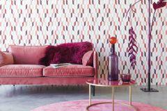 531039 cikkszámú tapéta.3d hatású,absztrakt,különleges felületű,fehér,pink-rózsaszín,piros-bordó,szürke,lemosható,vlies tapéta