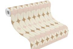 531114 cikkszámú tapéta.Absztrakt,különleges felületű,arany,fehér,pink-rózsaszín,lemosható,vlies tapéta