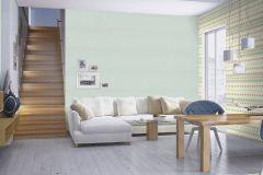 531121 cikkszámú tapéta.Absztrakt,különleges felületű,arany,fehér,zöld,lemosható,vlies tapéta